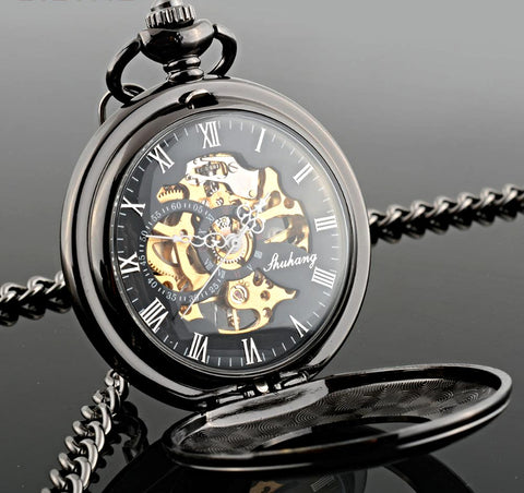 Mechanical Hollow Pocket Watch