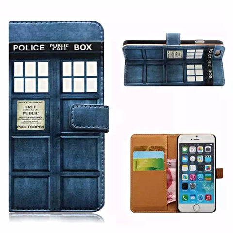 Police Box Leather Wallet Case