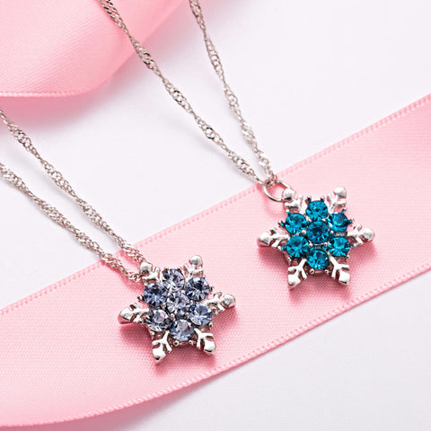 Classic Crystal Snowflake Necklace