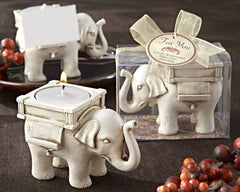 Ivory Elephant Candle Holder