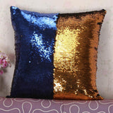 Two Tone Sequin Throw Pillow