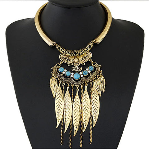 Vintage Leaf Necklace