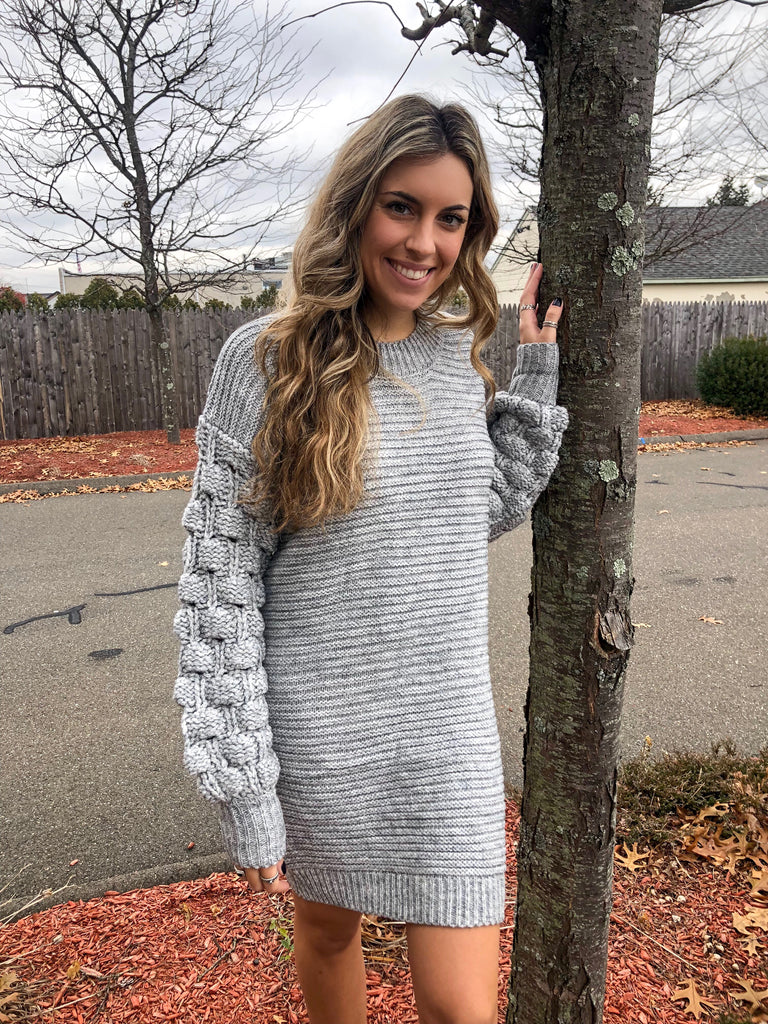 'Blogger babe' sweater dress