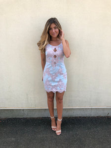 'Enchanted' mini dress