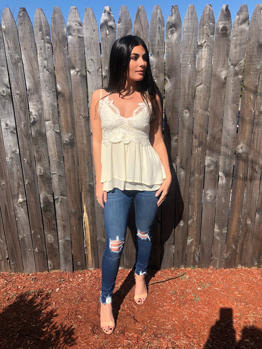 'Beach haven' top
