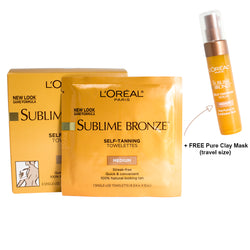 Loreal Sublime Bronze Self-Tanning Towelettes 6 count - Medium