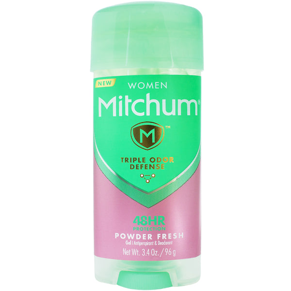 Mitchum Women Triple Odor Defense Gel Antiperspirant & Deodorant, Powder Fresh 3.4 oz