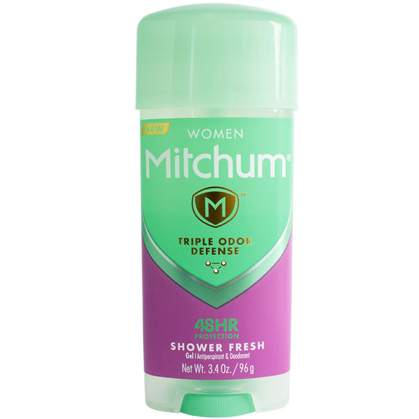 Mitchum Women Triple Odor Defense Gel Antiperspirant & Deodorant, Shower Fresh 3.4 oz
