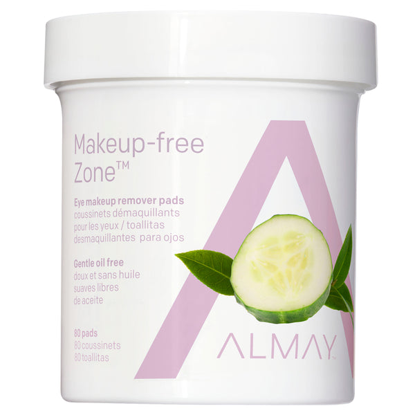 Almay Oil Free Gentle Eye Makeup Remover Pads, 80 Ct (2-pack)