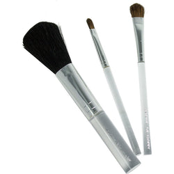 Jerome Alexander 3 Piece Brush Set with Dome Brush, Clear Handle