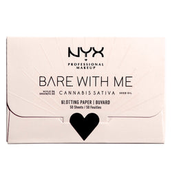 NYX Bare With Me Cannabis Sativa Seed Oil Blotting Paper, 50 Sheets