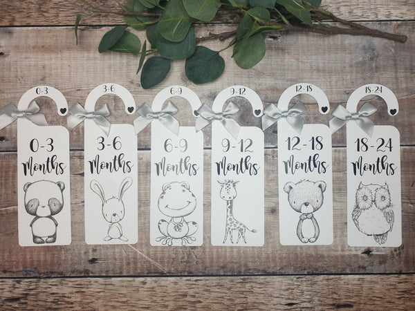 Monochrome Baby Clothes Dividers