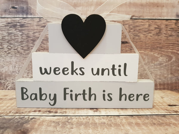 Personalised Baby Countdown, Baby Countdown Blocks, Baby Countdown... - Fingers and Thumbs Crafts
