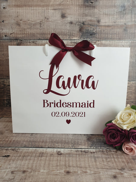 Bridesmaid Gifts Bags, personalised. - Fingers and Thumbs Crafts