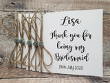 Bridesmaid Thank You Cards - Fingers and Thumbs Crafts