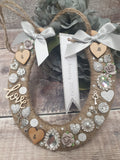 Personalised Wedding Horseshoe, Lucky Horseshoe, - Fingers and Thumbs Crafts