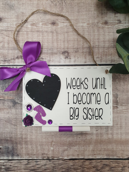 Big Sister Countdown, New Baby Arrival - Fingers and Thumbs Crafts