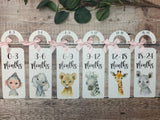 Baby Clothes Dividers,Safari Animals, wardrobe organisation, Baby Shower Gift