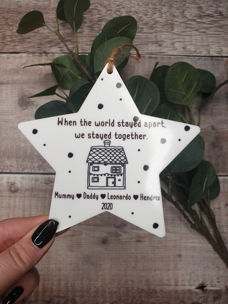 Family Lockdown Personalised Christmas Bauble - 2020