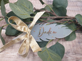 Remembrance Christmas Feather, Personalised tree decoration.