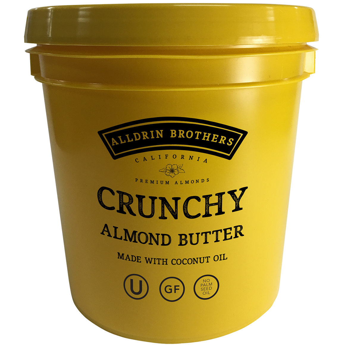 Crunchy Almond Butter - 1 Gallon Pail (9lbs)