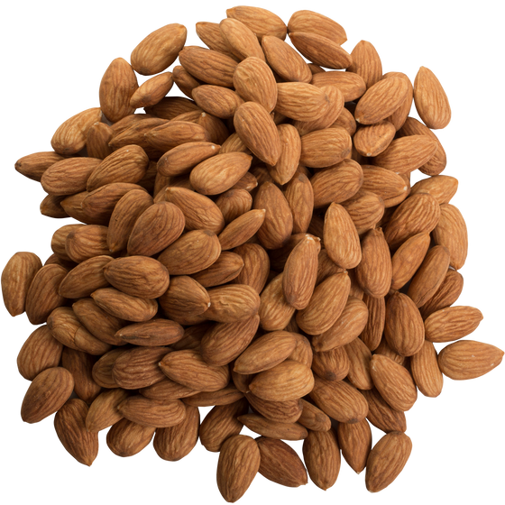 LARGE WHOLE RAW ALMONDS  25LB - $4.49/LB