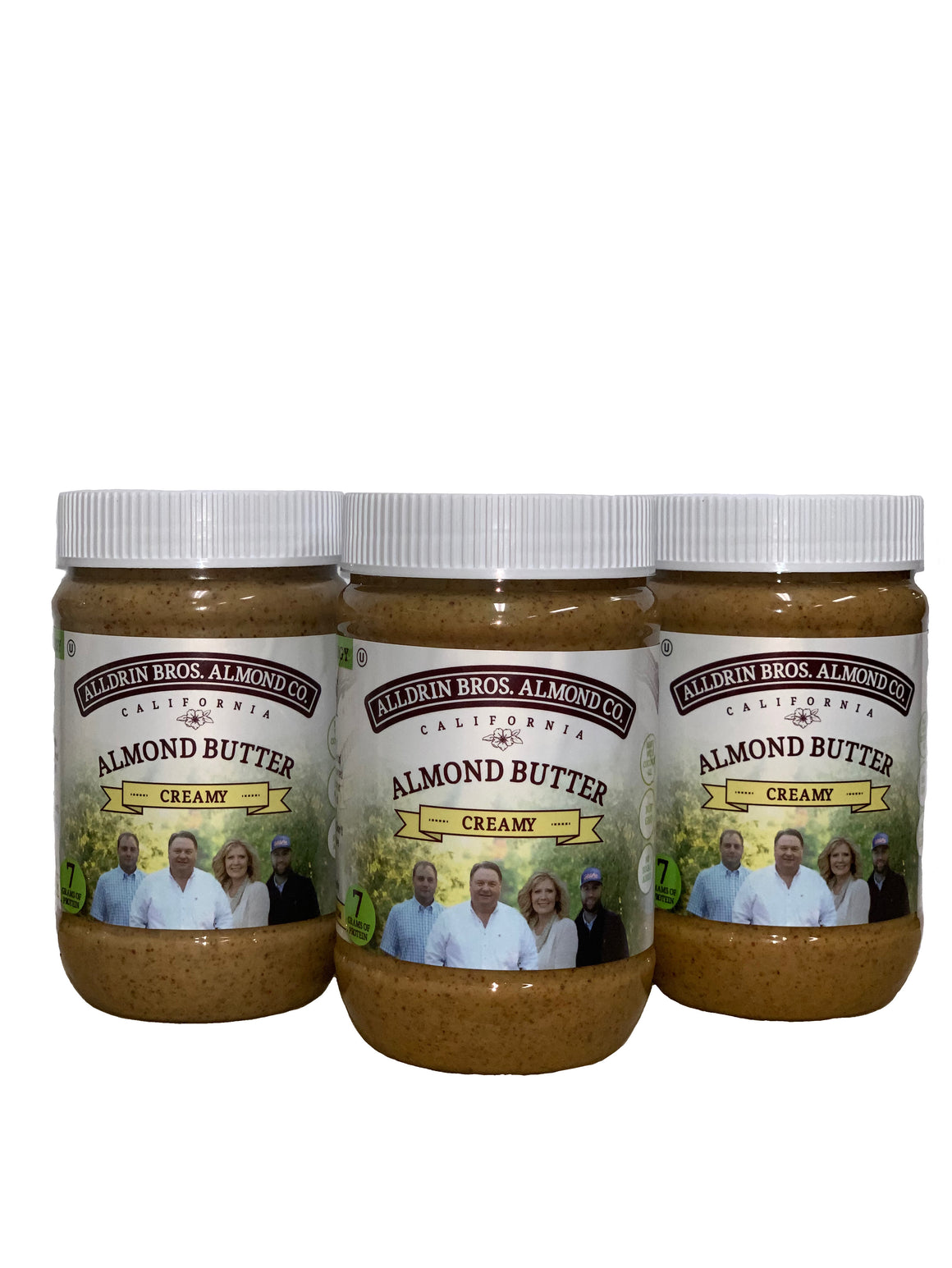 Alldrin Almond Butter - Creamy 3 PACK **SOLD OUT**