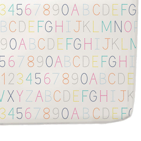 Petit Pehr Alphabet Crib Sheet Bedding