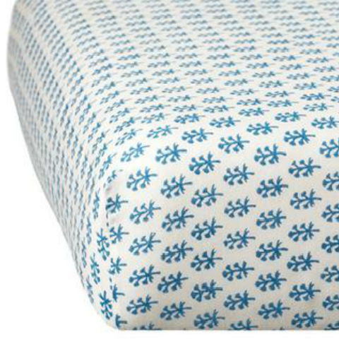 Rikshaw Design Blue Crib Sheet Nursery Bedding