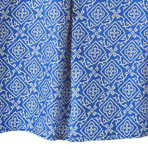 Crib Skirt Moroccan Blue