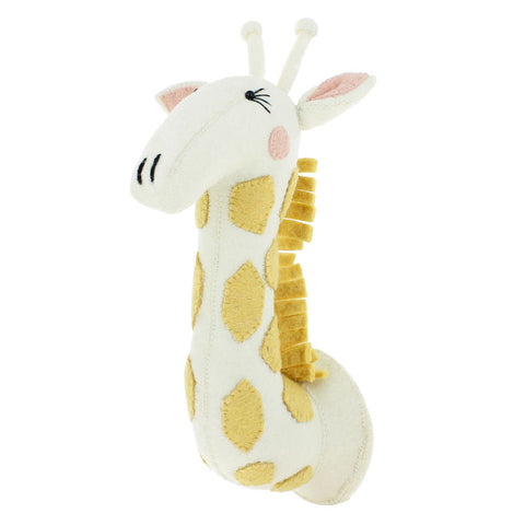 Fiona Walker Girl Giraffe Head Nursery Decor