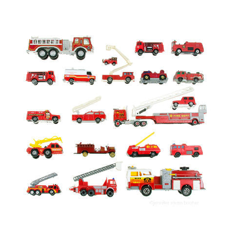 Toy Fire Trucks Print Nursery Art