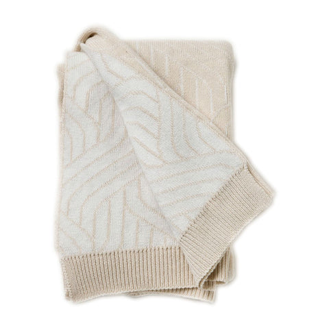 Garbo and Friends Beige Strada Baby Blanket