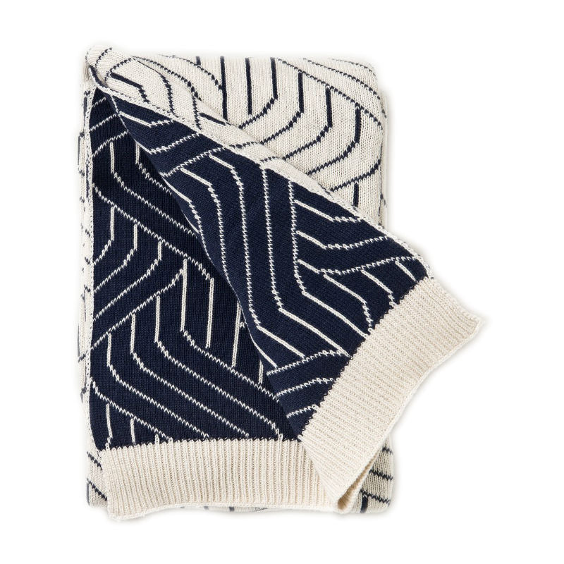 Garbo and Friends Navy Strada Baby Blanket
