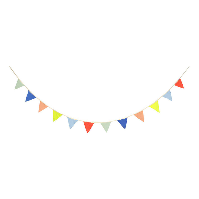 Multi Color Pennant Bunting Nursery Decor