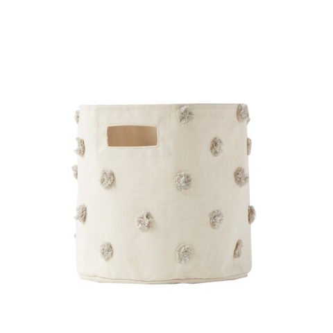 Petit Pehr Grey Pom Pom Bin Toy Storage