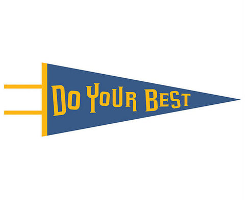 Do Your Best Pennant Nursery Decor