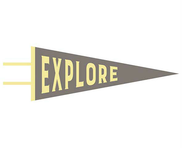 gray explore pennant nursery decor