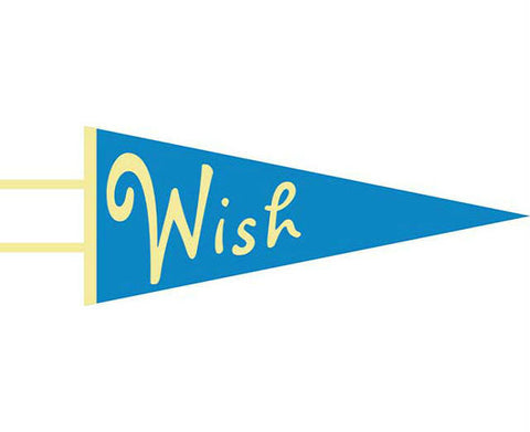 Wish Wool Pennant Kids Room Decor