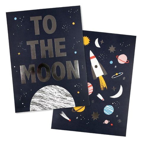 Meri Meri Space Art Prints Kids Room