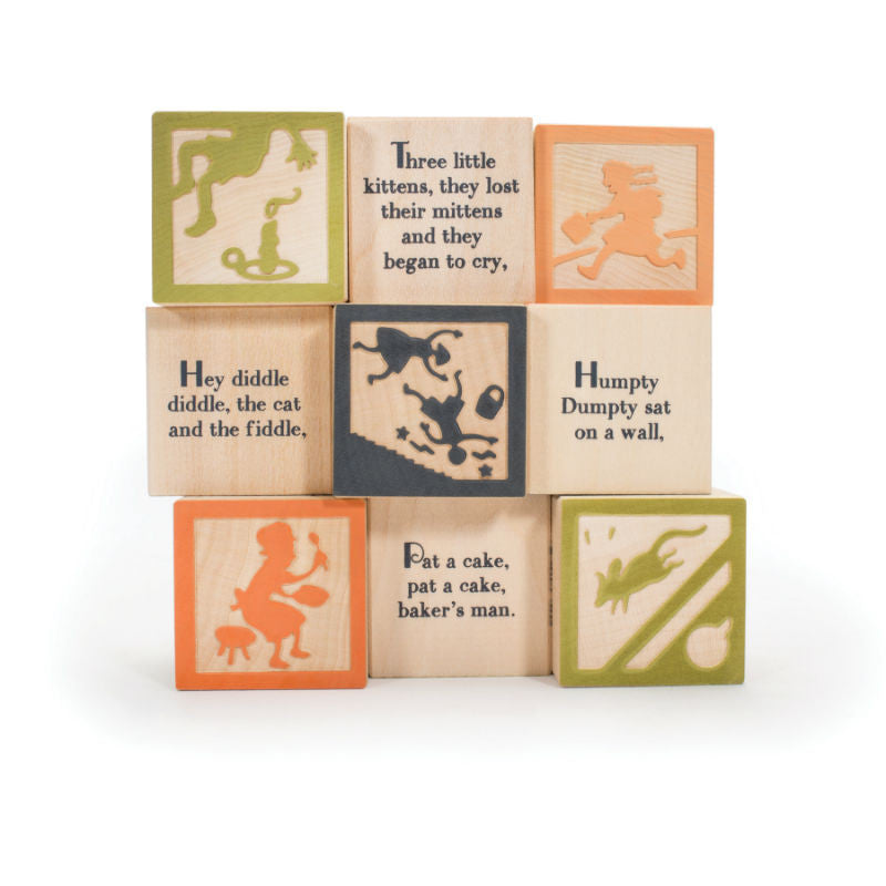 Uncle Goose Nursery Rhyme Wooden Blocks