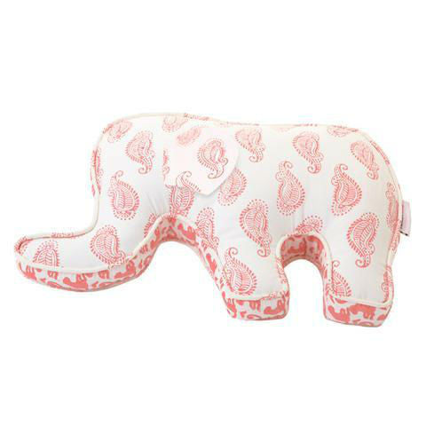 Rikshaw Design Elephant Pillow Taj Pink