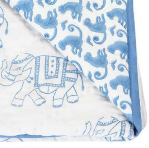 Rikshaw Design Play Blanket Taj Blue