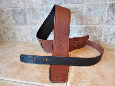 Special Release: 2.5 Inch Wide Leather Backed Guitar Straps