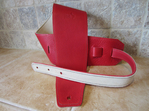 4 Inch Wide Rossa Leather Guitar Straps