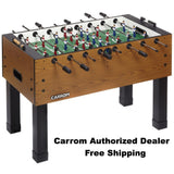 CARROM BURR OAK FOOSBALL TABLE - Foosball Master - 1