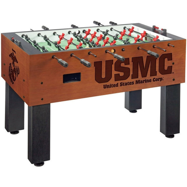 Official Military Logo Foosball Table - USMC - Foosball Master