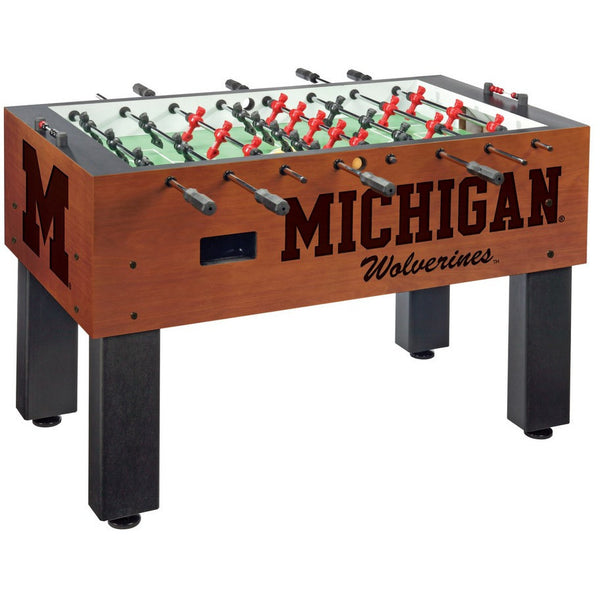 Groovy Michigan Wolverines Logo Foosball Table Gmtry Best Dining Table And Chair Ideas Images Gmtryco
