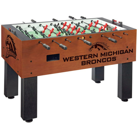 Western Michigan Logo Foosball Table - Foosball Master
