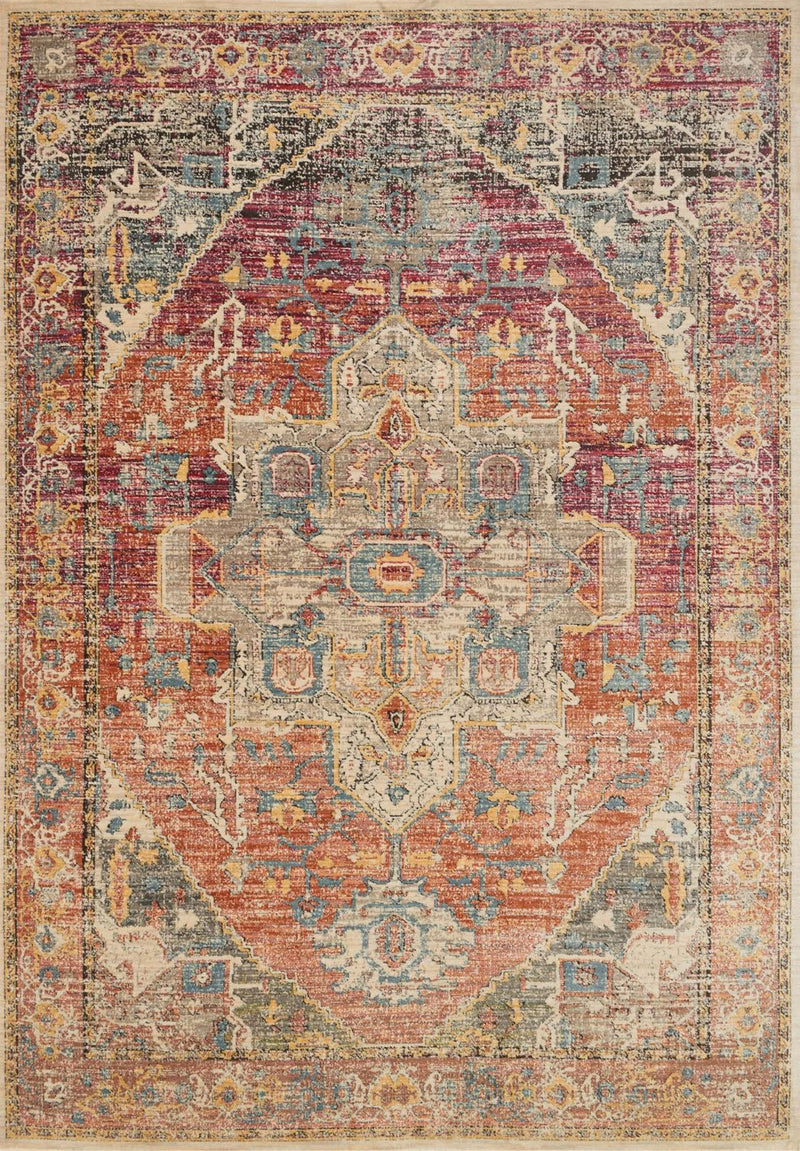 Loloi JAVARI JV-08 BERRY / SUNRISE Area Rug